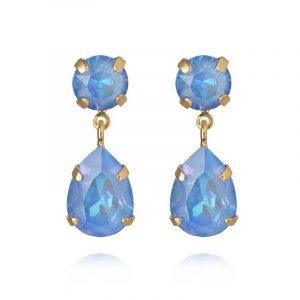 Mini Drop Earrings Gold Ocean Blue Delite från Caroline Svedbom