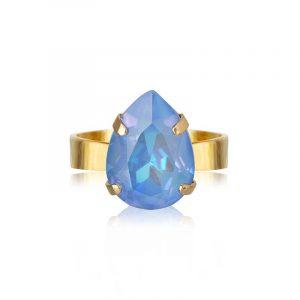 Mini Drop Ring Gold Ocean Blue Delite från Caroline Svedbom