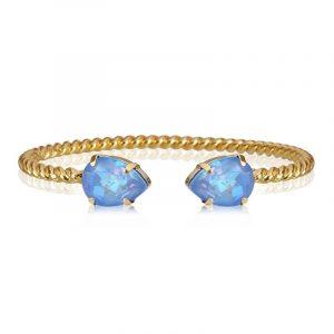 Mini Drop Bracelet Gold Ocean Blue Delite från Caroline Svedbom