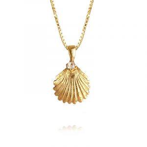 Shell Necklace Gold Crystal från Caroline Svedbom