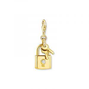 Charm-hängsmycke Hänglås med Nyckel Guld från Thomas Sabo