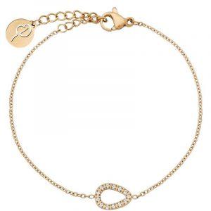 Sander Contour Bracelet CZ Gold från Edblad
