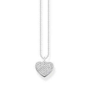 Halsband Glittrande Hjärta - Thomas Sabo halsband - Snabb frakt & paketinslagning - Jewelrybox.se