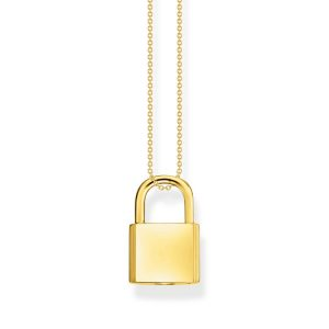 Halsband Hänglås Guld - Thomas Sabo halsband - Snabb frakt & paketinslagning - Jewelrybox.se