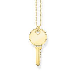 Halsband Glittrande Nyckel Guld - Thomas Sabo halsband - Snabb frakt & paketinslagning - Jewelrybox.se